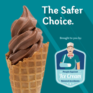 Soft Serve is the safer choice! Put Down The Scoop!