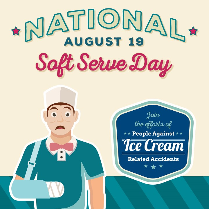 Celebrate National Soft Serve Day Aug 19